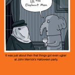 Elephant man meets Elephant man Halloween card