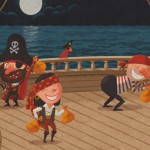 Humorous illustration by George Schill - pirates