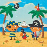 Humorous illustration by George Schill - Pirate children