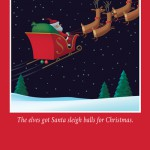 Sleigh balls Christmas card