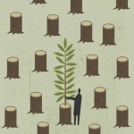 Conceptual illustration by George Schill - trees